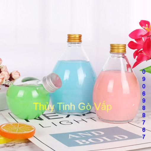 Bình thủy tinh hình giọt nước 300ml và 500ml, nhập khẩu có bán tại thuytinhgovap.com