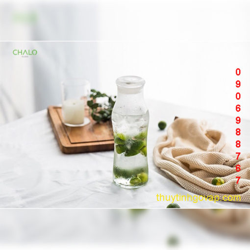 Chai Libbey Trend Swerve Bottle With Lid 565ml