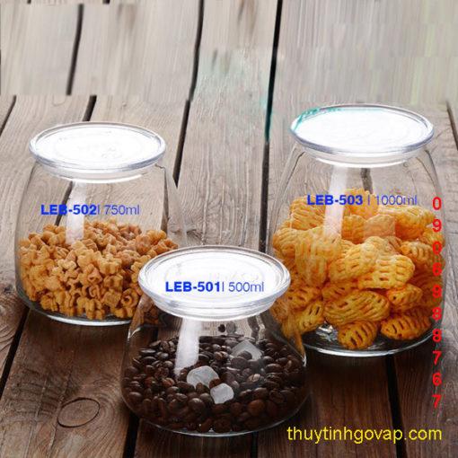 Hũ thủy tinh Libbey Vibe Jar 500ml   750ml   1000ml