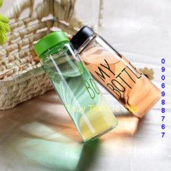 Bình nước thủy tinh My Bottle nắp nhựa nhiều màu 500ml giá rẻ tại thuytinhgovap.com