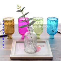 Bình hoa thủy tinh xinh xắn cho phòng khách, bình hoa nghệ thuật