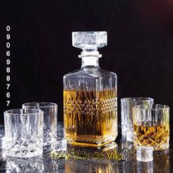 Bình pha lê cao cấp chiết rượu 750ml – BR5 thủy tinh phú nhuận