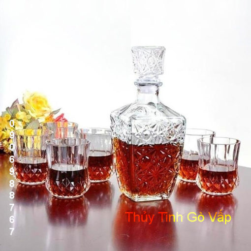Binh chiết rượu pha lê cao cấp 750ml – BR4 thủy tinh quận 12