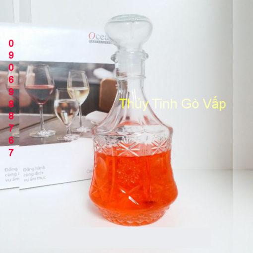 Bình pha lê nhập khẩu đựng rượu 750ml bình thủy tinh quận 3 giá rẻ