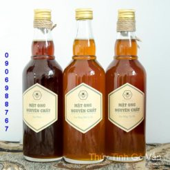 chai thủy tinh tròn balan nắp nhôm 500ml chai lọ đựng mật ong ở hcm