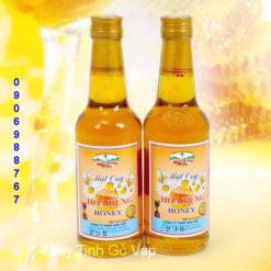 chai thủy tinh tròn nắp nhôm đựng mật ong 330ml chai thủy tinh giá rẻ sài gòn