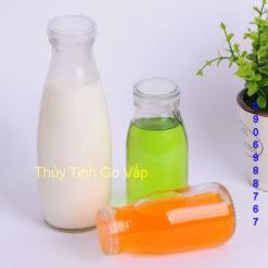chai thủy tinh tròn nắp nhựa 200ml 250ml 500ml 1000ml, lọ thủy tinh giá rẻ ở gò vấp