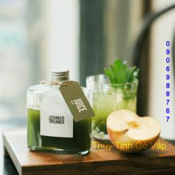 chai thủy tinh vuông dẹp nắp nhôm 250ml, chai lọ giá rẻ ở quận gò vấp