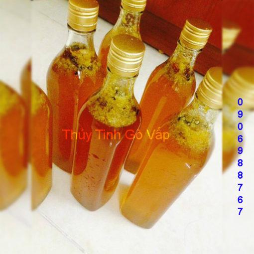 chai thủy tinh vuông đựng mật ong nắp nhôm 500ml chai lọ nhập khẩu ở gò vấp