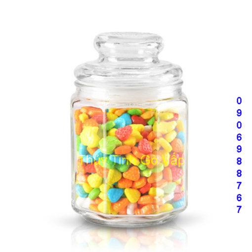 hũ lục giác nắp thủy tinh 1 lít 1.5 lít 2 lít, hũ thủy tinh cao cấp giá rẻ ở gò vấp
