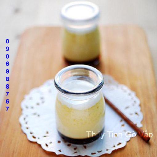 hũ pudding lùn nắp nhựa 100ml, chai lọ thủy tinh giá rẻ tại sài gòn